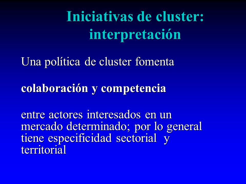 Iniciativas de cluster: interpretación