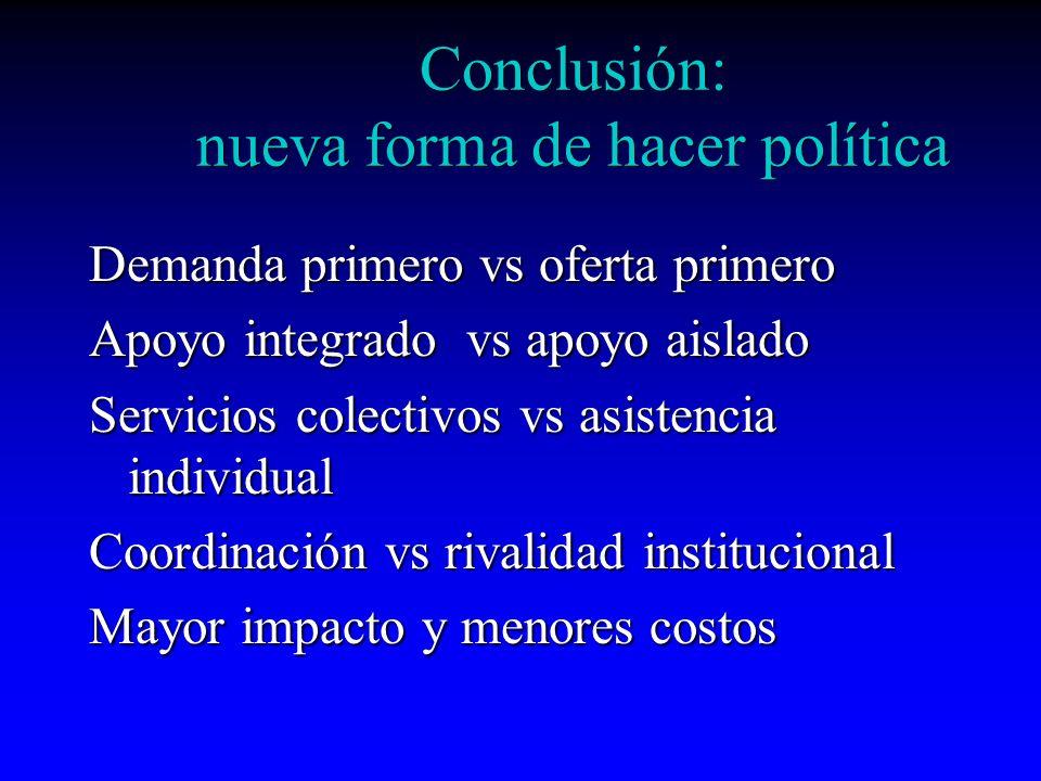 Conclusión: nueva forma de hacer política