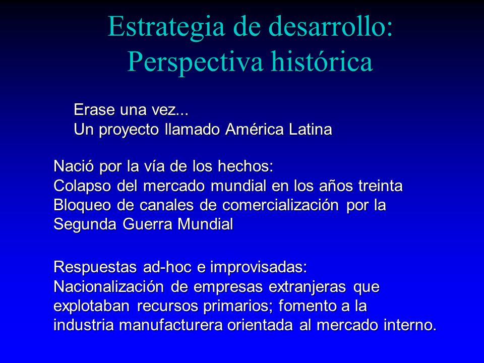 Estrategia de desarrollo: Perspectiva histórica