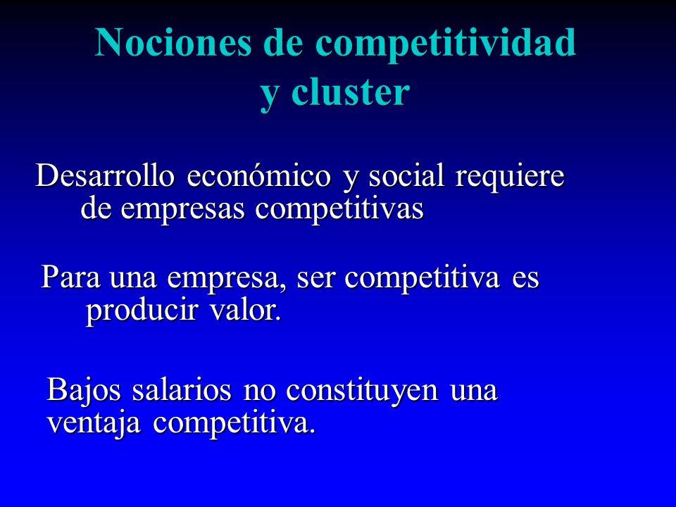 Nociones de competitividad y cluster