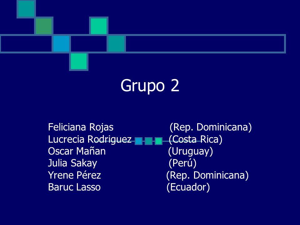 Grupo 2 Feliciana Rojas (Rep. Dominicana)