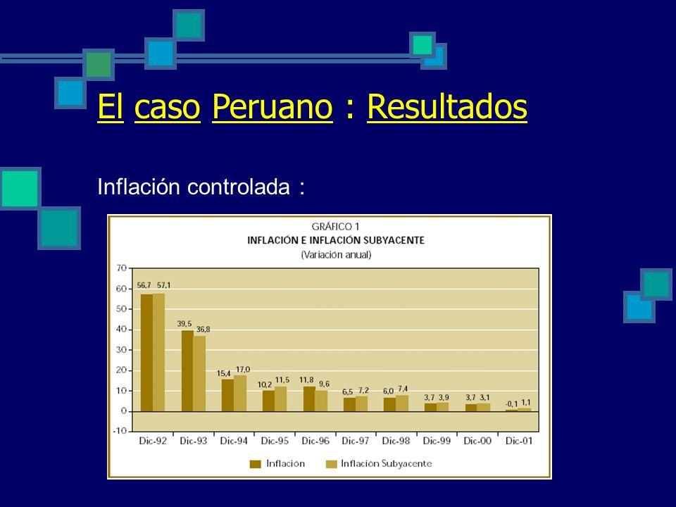 El caso Peruano : Resultados