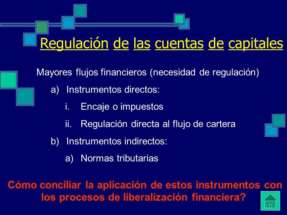 Regulación de las cuentas de capitales