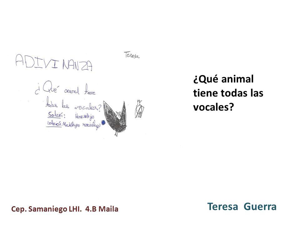 ¿Qué animal tiene todas las vocales