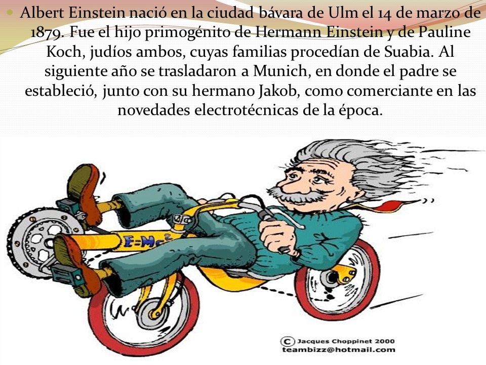 Albert Einstein nació en la ciudad bávara de Ulm el 14 de marzo de 1879.
