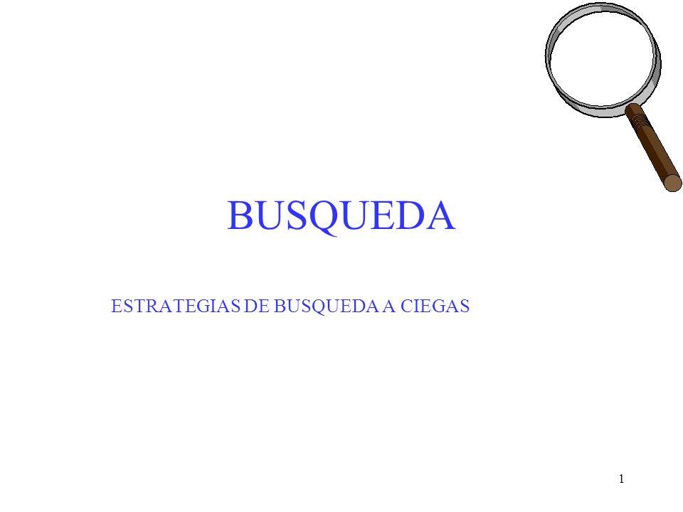 ESTRATEGIAS DE BUSQUEDA A CIEGAS