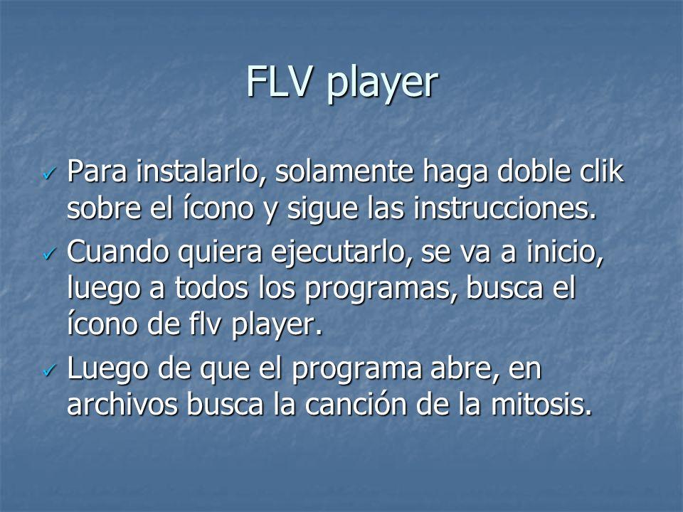 FLV player Para instalarlo, solamente haga doble clik sobre el ícono y sigue las instrucciones.