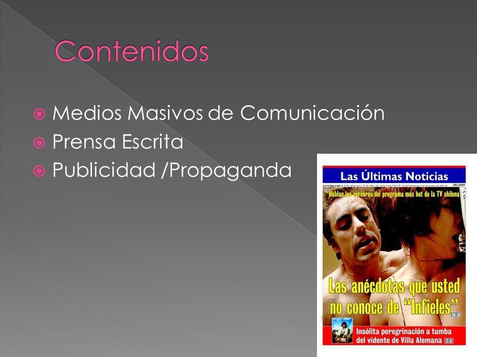 Contenidos Medios Masivos de Comunicación Prensa Escrita
