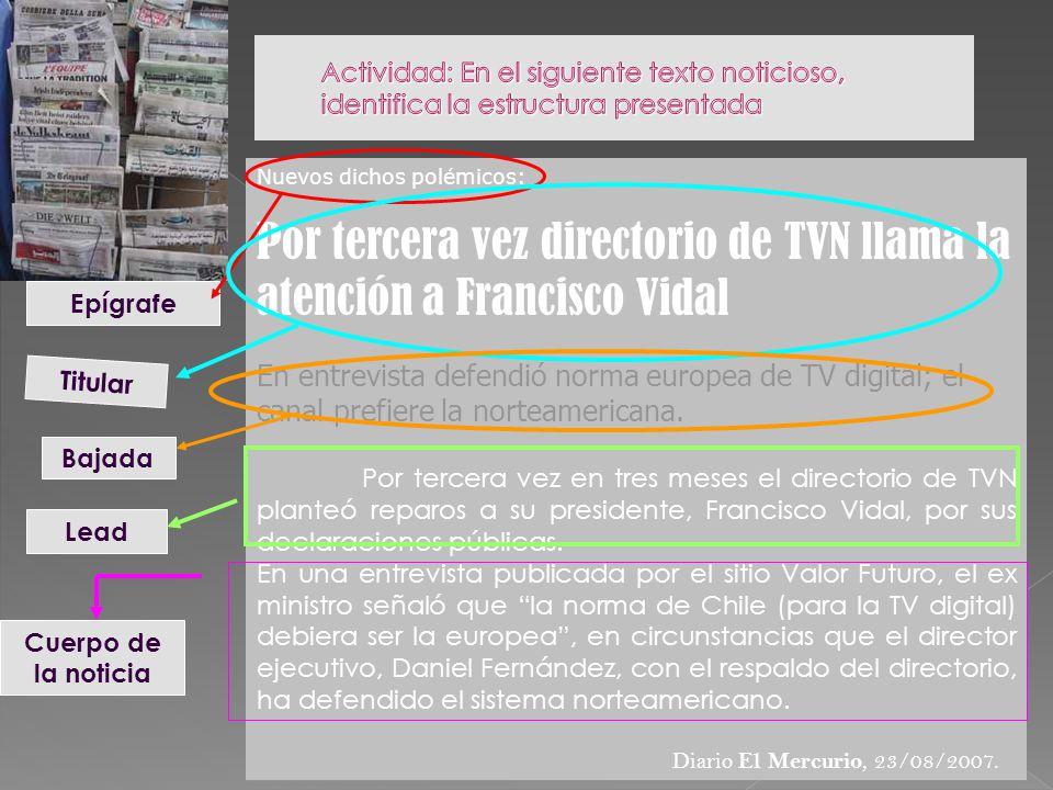 Por tercera vez directorio de TVN llama la atención a Francisco Vidal