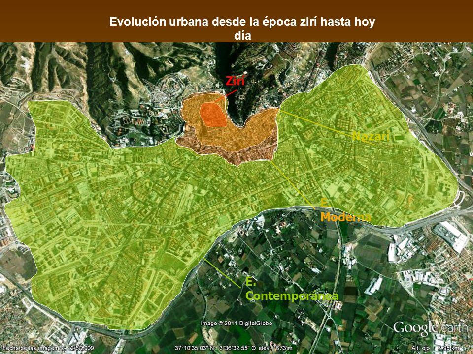 Evolución urbana desde la época zirí hasta hoy día