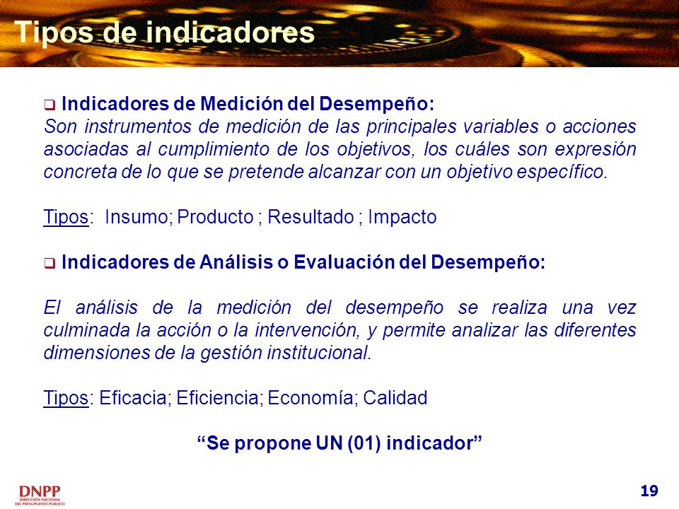 Se propone UN (01) indicador