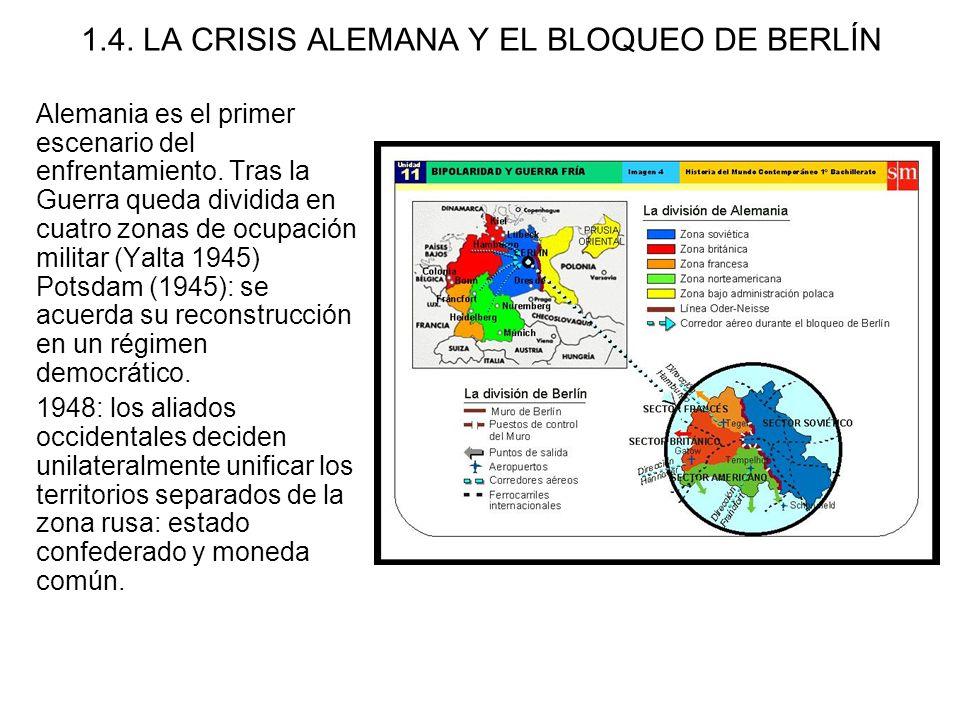 1.4. LA CRISIS ALEMANA Y EL BLOQUEO DE BERLÍN