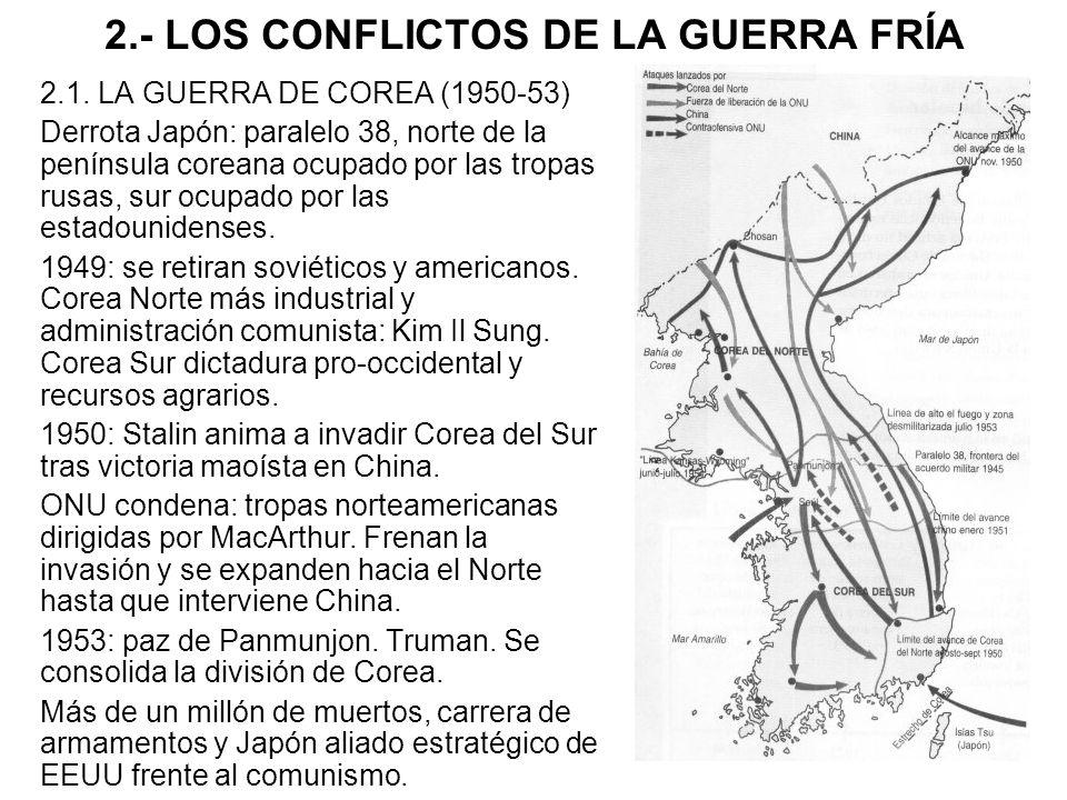 2.- LOS CONFLICTOS DE LA GUERRA FRÍA