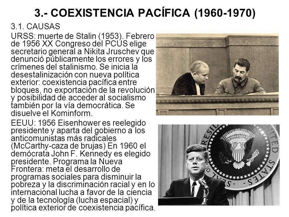 3.- COEXISTENCIA PACÍFICA (1960-1970)