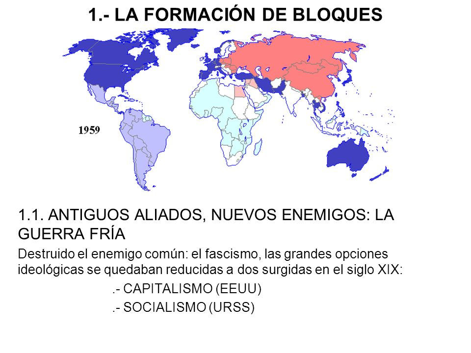 1.- LA FORMACIÓN DE BLOQUES