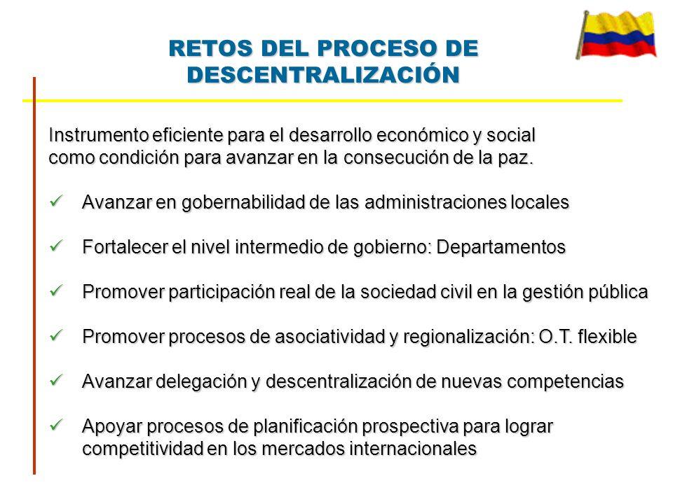 RETOS DEL PROCESO DE DESCENTRALIZACIÓN