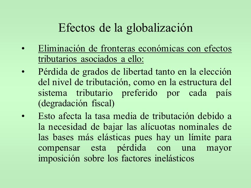 Efectos de la globalización