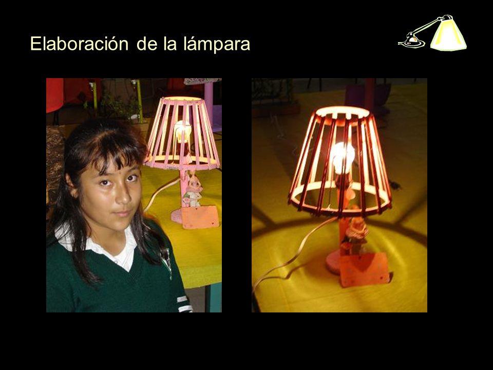 Elaboración de la lámpara