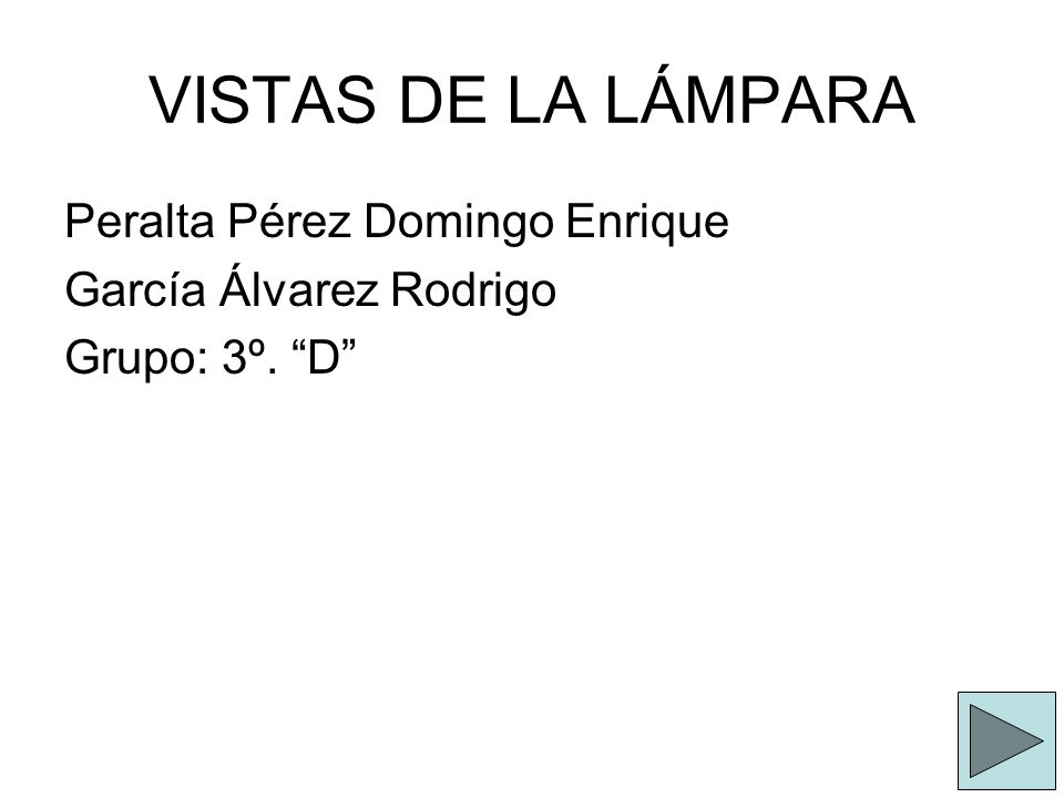 VISTAS DE LA LÁMPARA Peralta Pérez Domingo Enrique