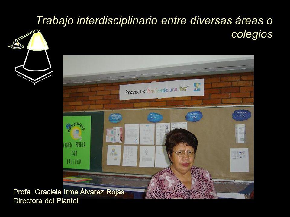 Trabajo interdisciplinario entre diversas áreas o colegios
