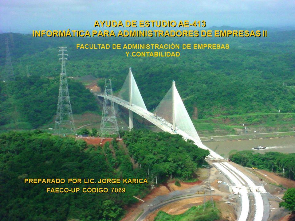 PREPARADO POR LIC. JORGE KARICA FAECO-UP CÓDIGO 7069