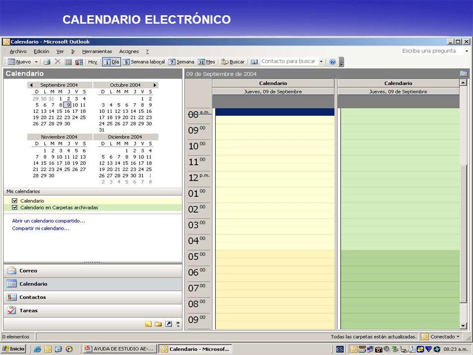 CALENDARIO ELECTRÓNICO