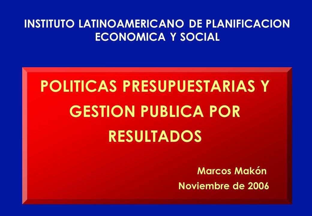 POLITICAS PRESUPUESTARIAS Y GESTION PUBLICA POR RESULTADOS