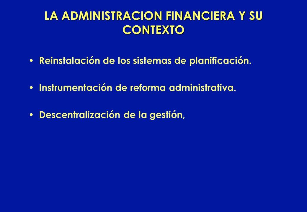 LA ADMINISTRACION FINANCIERA Y SU CONTEXTO