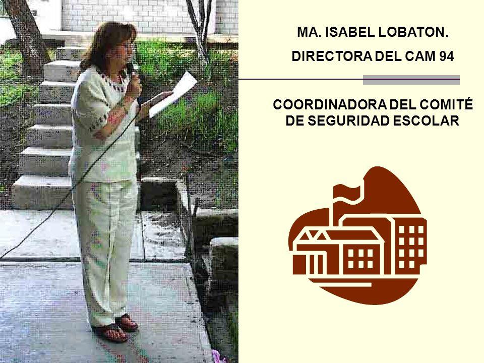 COORDINADORA DEL COMITÉ DE SEGURIDAD ESCOLAR