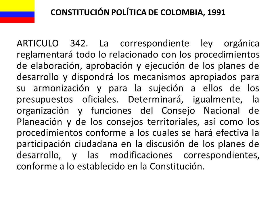 CONSTITUCIÓN POLÍTICA DE COLOMBIA, 1991