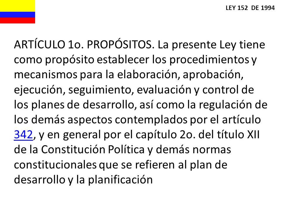 LEY 152 DE 1994