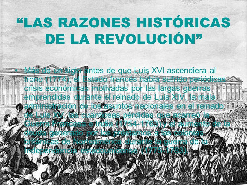 LAS RAZONES HISTÓRICAS DE LA REVOLUCIÓN
