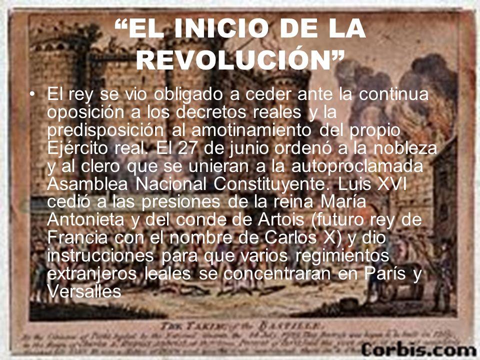 EL INICIO DE LA REVOLUCIÓN