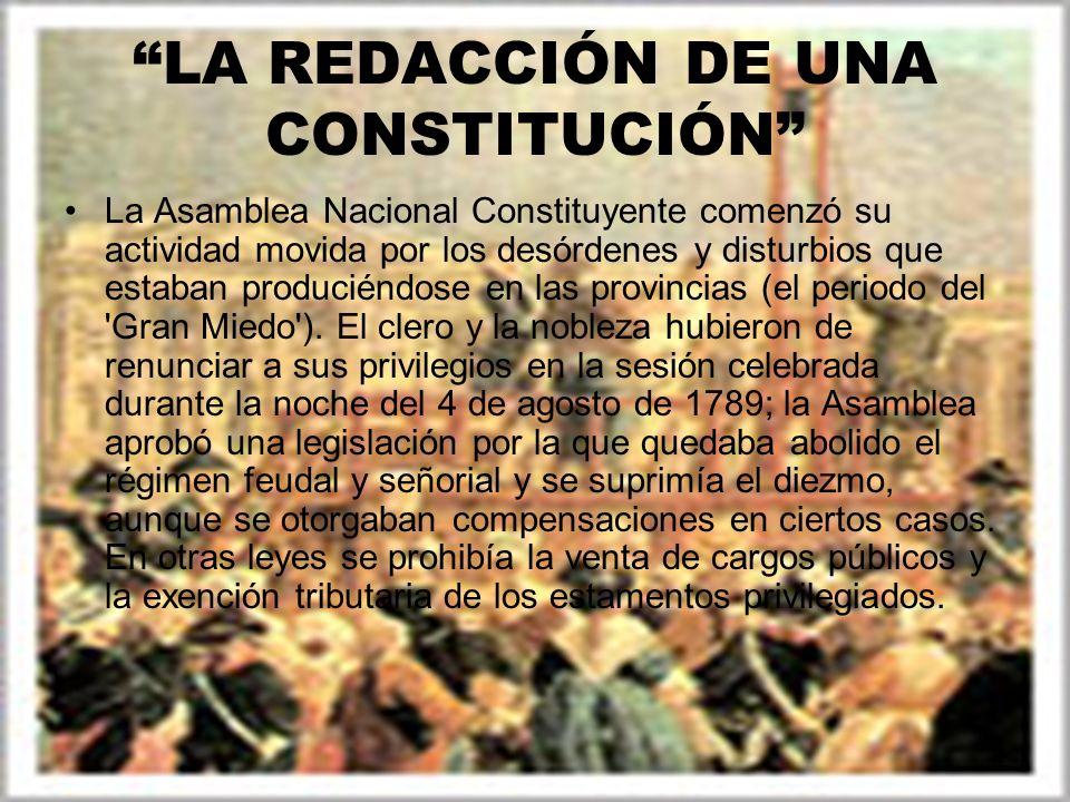 LA REDACCIÓN DE UNA CONSTITUCIÓN