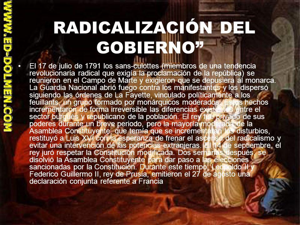 RADICALIZACIÓN DEL GOBIERNO