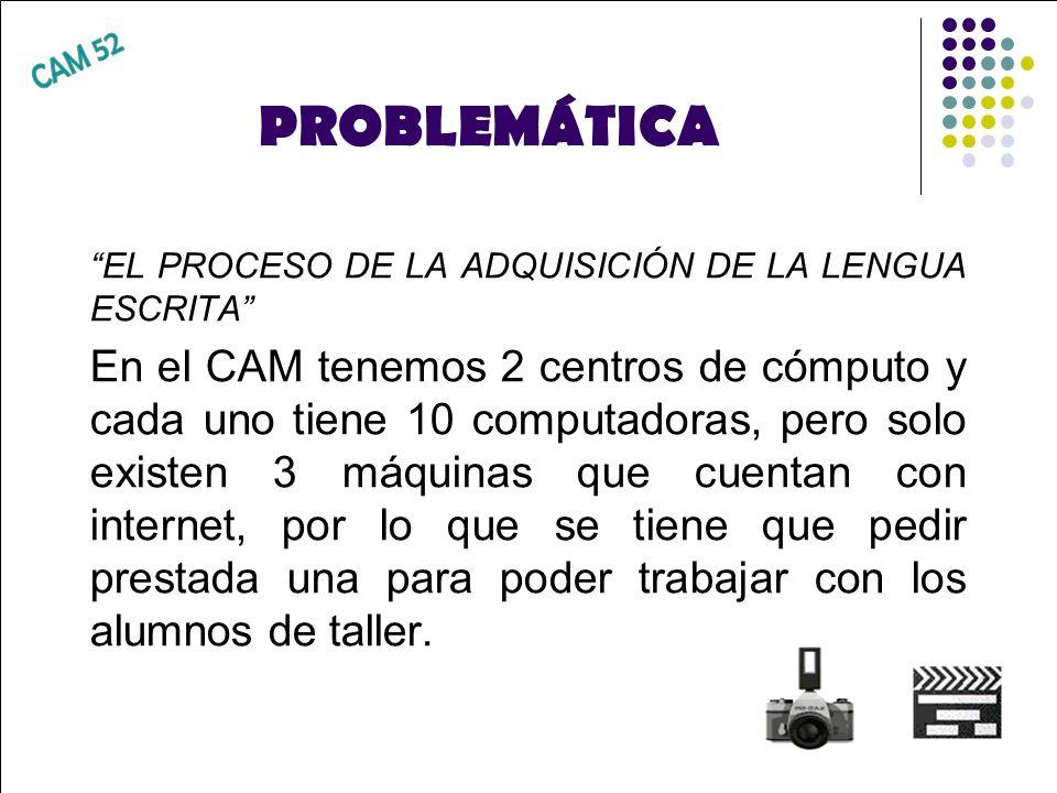 PROBLEMÁTICACAM 52. EL PROCESO DE LA ADQUISICIÓN DE LA LENGUA ESCRITA