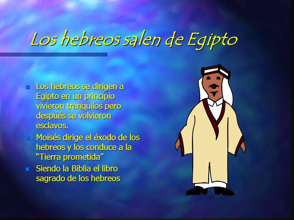 Los hebreos salen de Egipto