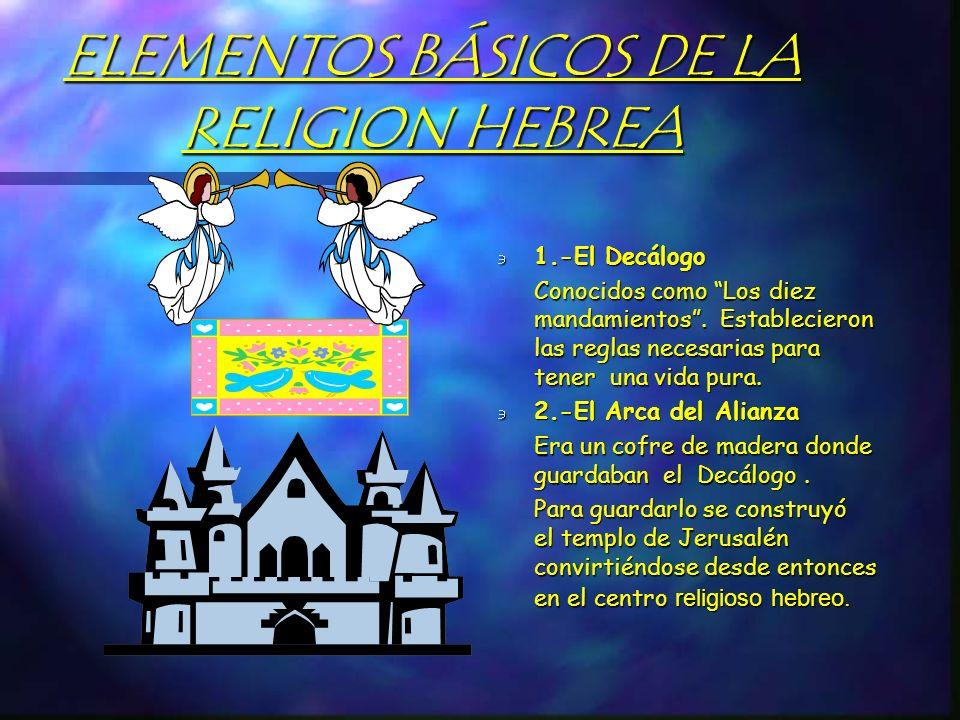 ELEMENTOS BÁSICOS DE LA RELIGION HEBREA