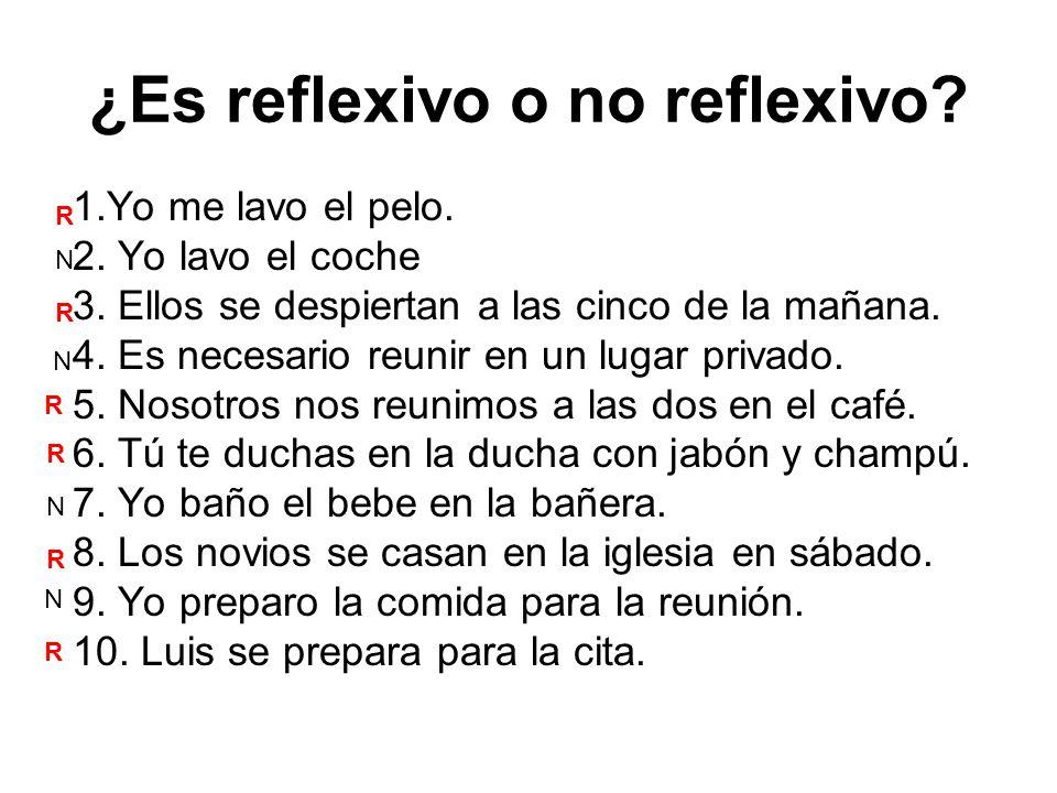 ¿Es reflexivo o no reflexivo