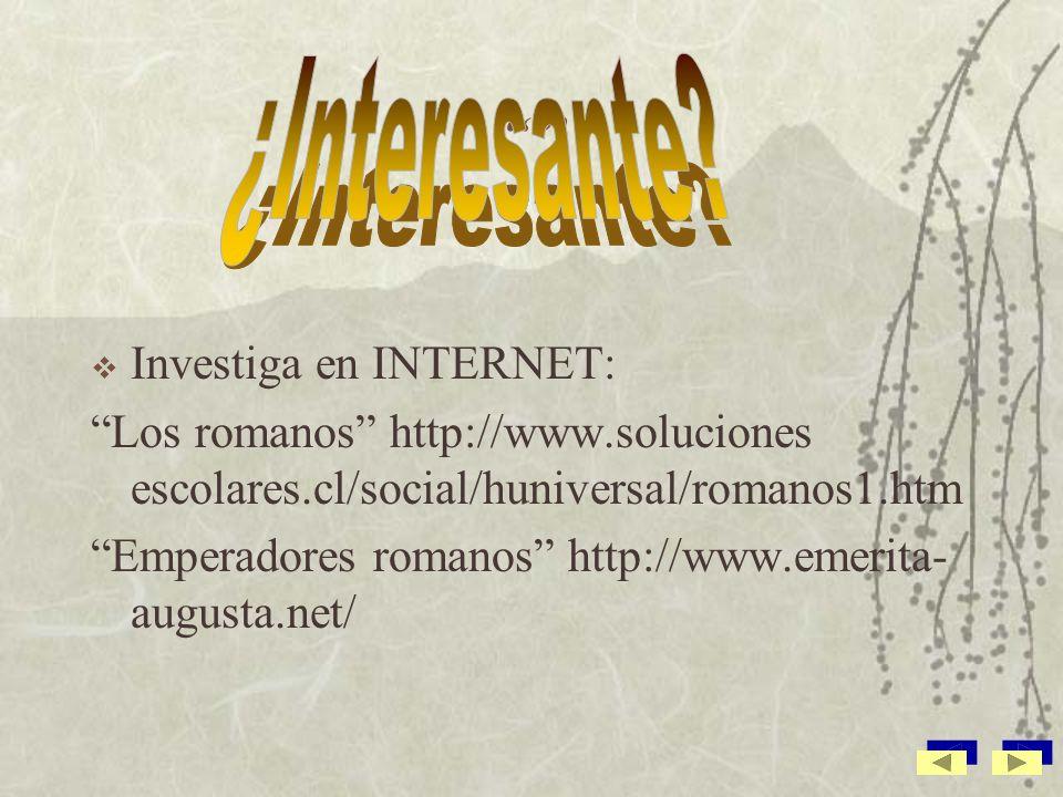 ¿Interesante Investiga en INTERNET: