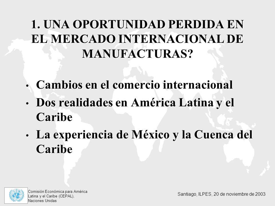 1. UNA OPORTUNIDAD PERDIDA EN EL MERCADO INTERNACIONAL DE MANUFACTURAS