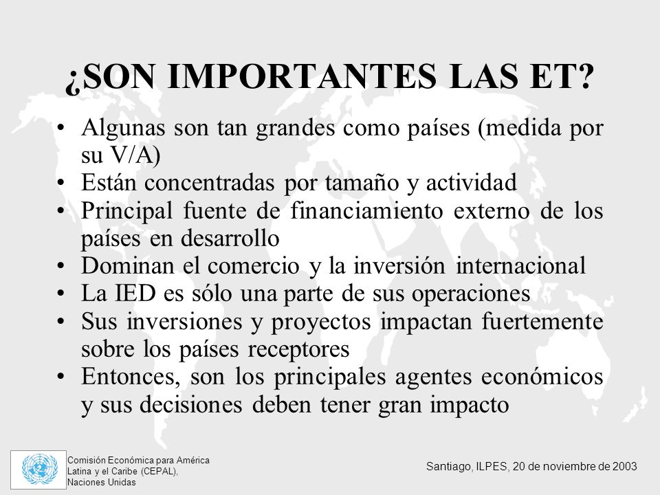 ¿SON IMPORTANTES LAS ET
