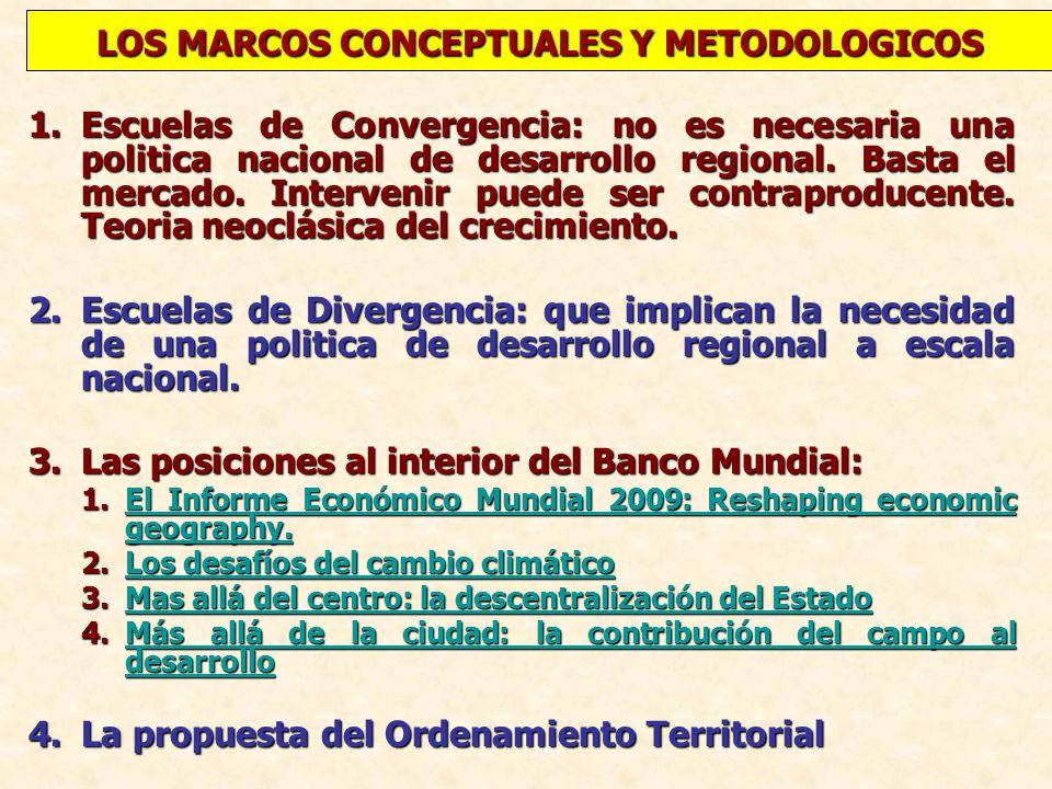 LOS MARCOS CONCEPTUALES Y METODOLOGICOS