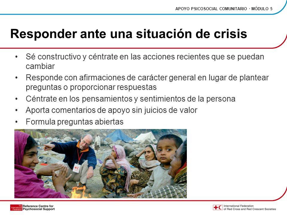 Responder ante una situación de crisis