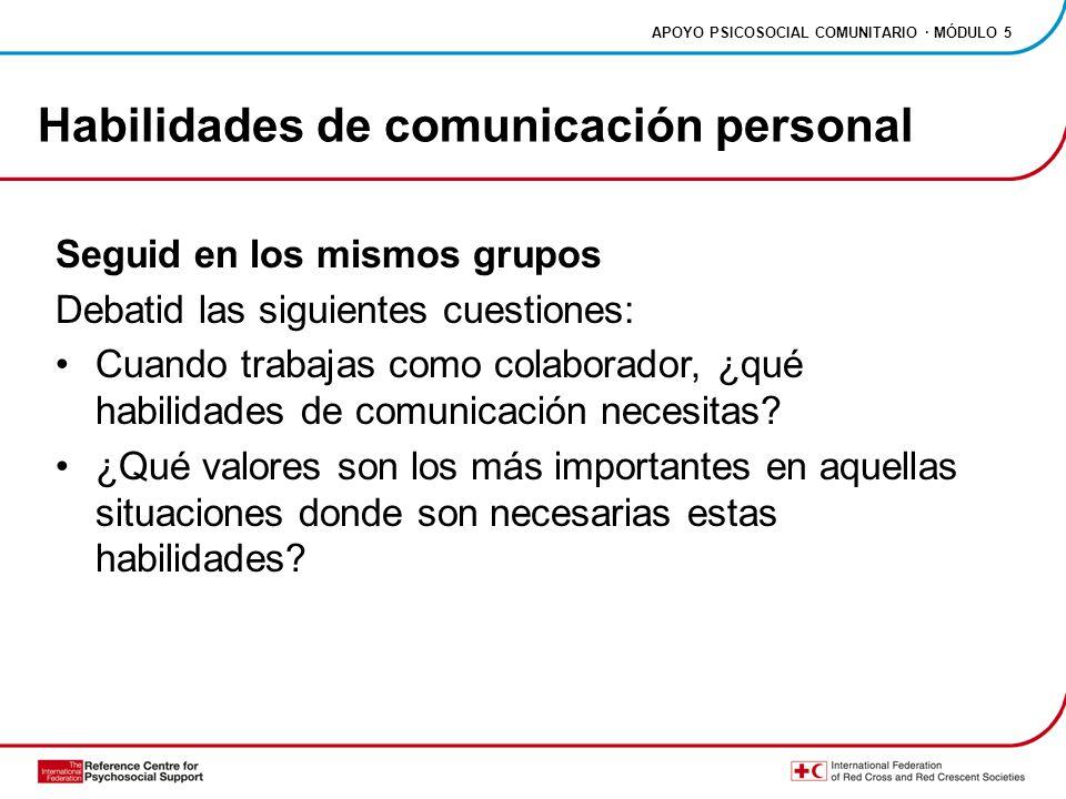 Habilidades de comunicación personal