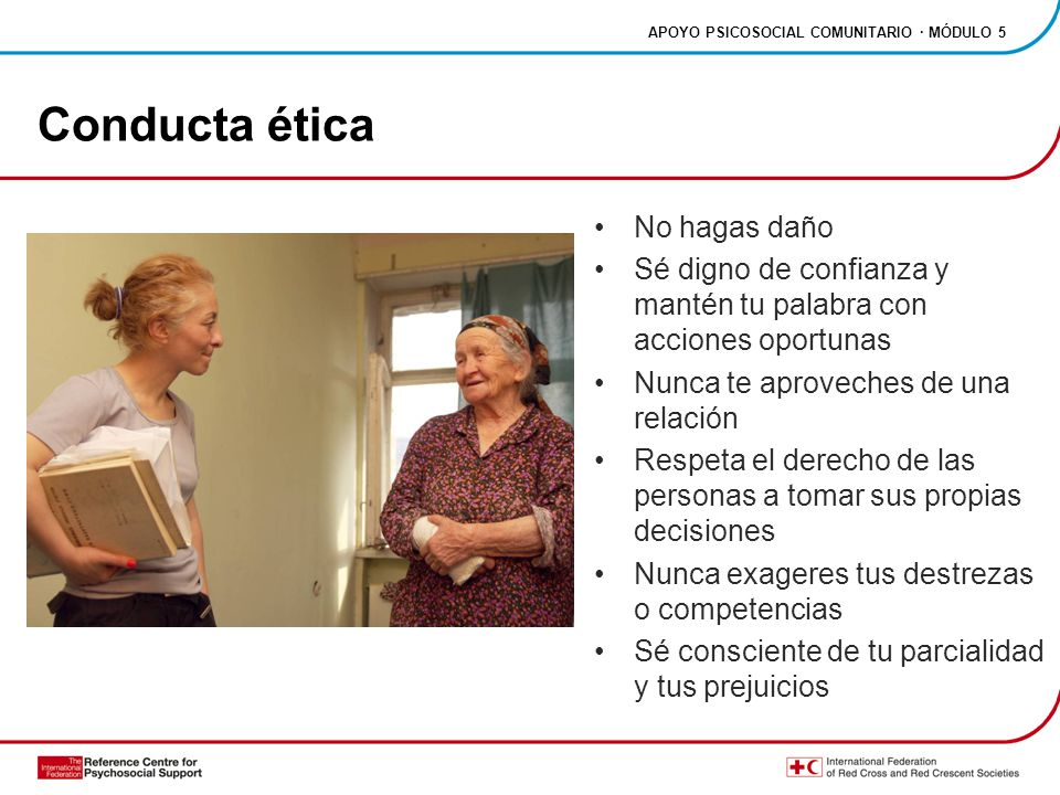 Conducta ética No hagas daño