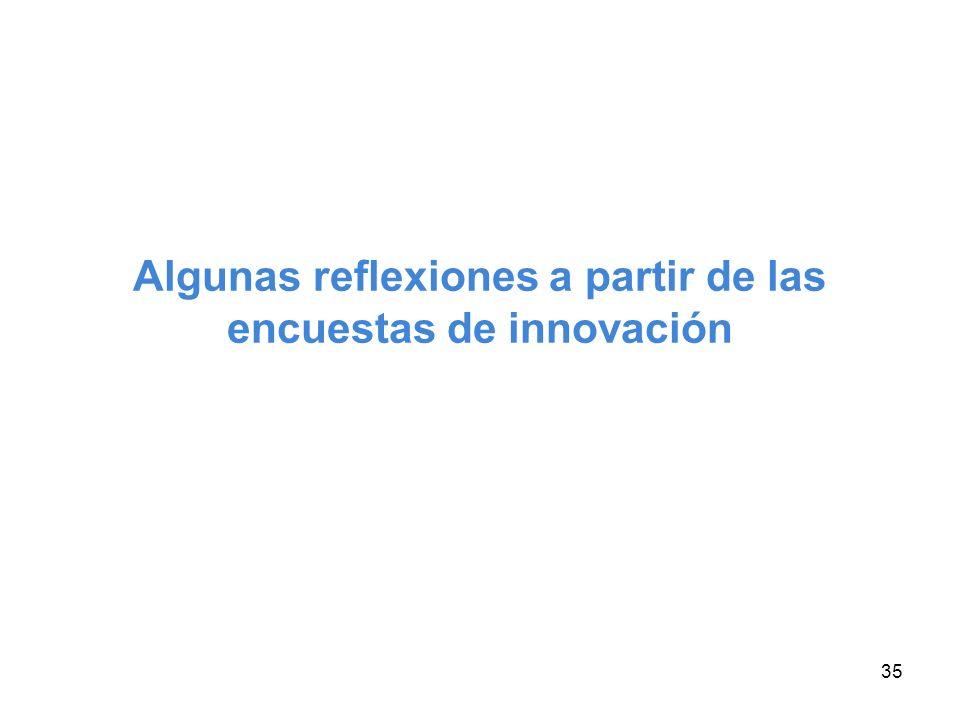 Algunas reflexiones a partir de las encuestas de innovación