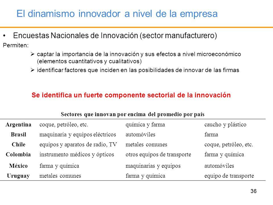 El dinamismo innovador a nivel de la empresa
