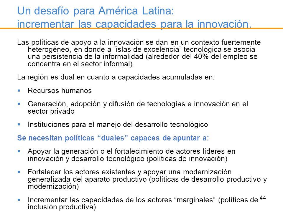 Un desafío para América Latina: incrementar las capacidades para la innovación.
