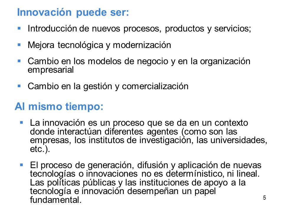 Innovación puede ser: Al mismo tiempo: